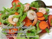 Ampalaya Salad with Dressing