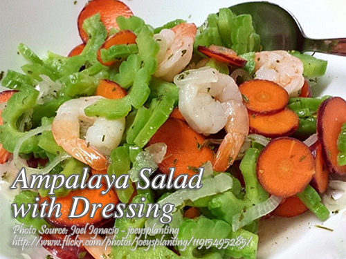 Ampalaya Salad with Dressing