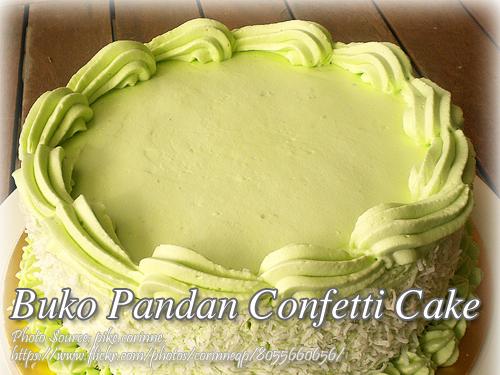 Buko Pandan Confetti Cake