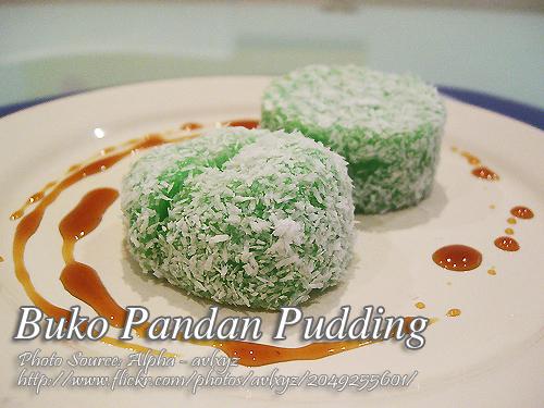 Buko Pandan Pudding