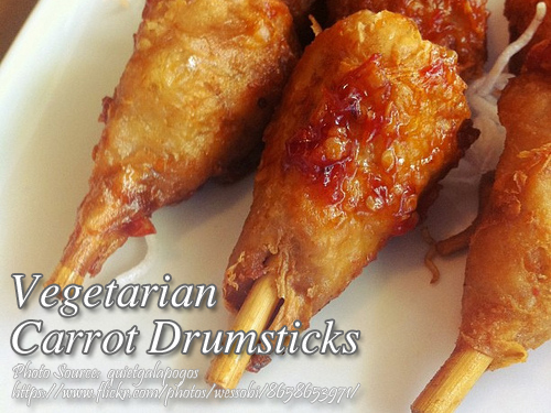Vegetarian Carrot Drumsticks