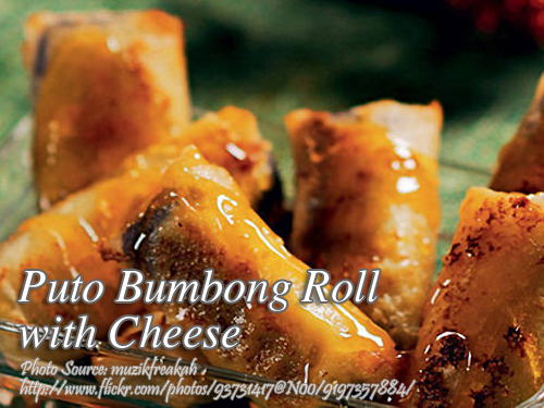 Cheesy Puto Bumbong Roll