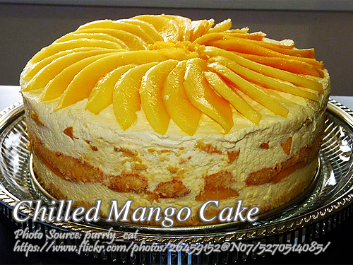 Chilled Mango Cake