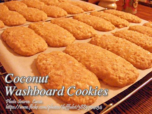 Coconut Washboard Cookies