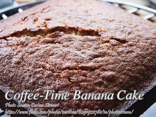 Coffee Time Banana Cake