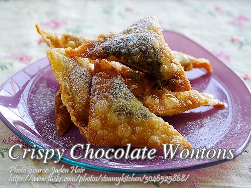 Crispy Chocolate Wontons