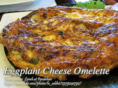 Eggplant Cheese Omelette