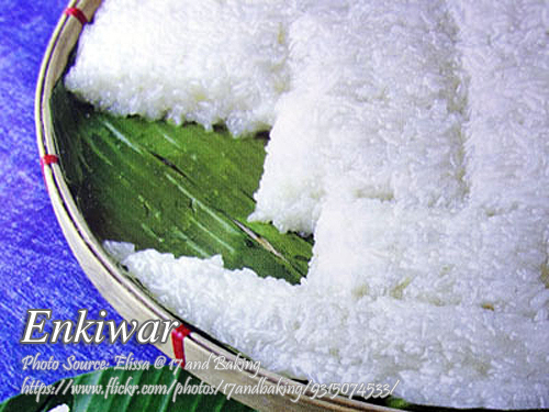 Enkiwar (Rice Cake with Coconut Milk)