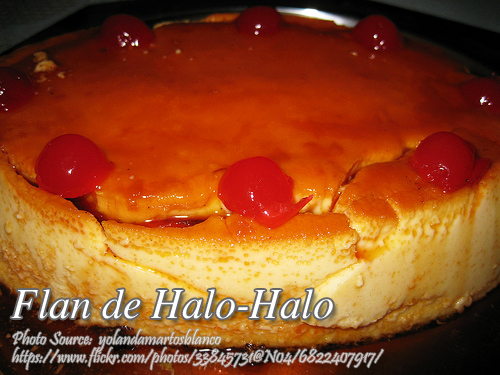 Flan de Halo-Halo