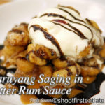 Maruyang Saging with Rum Butter Sauce