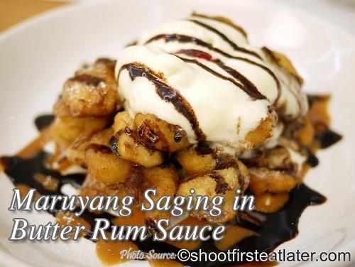 Maruyang Saging in Butter Rum Sauce