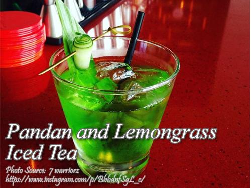 Pandan Lemongrass Iced Tea