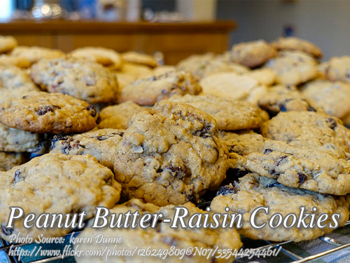 Peanut Butter Raisin Cookies